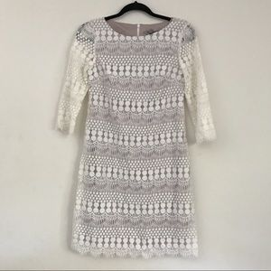 Eliza J 3/4 sleeve crochet dress